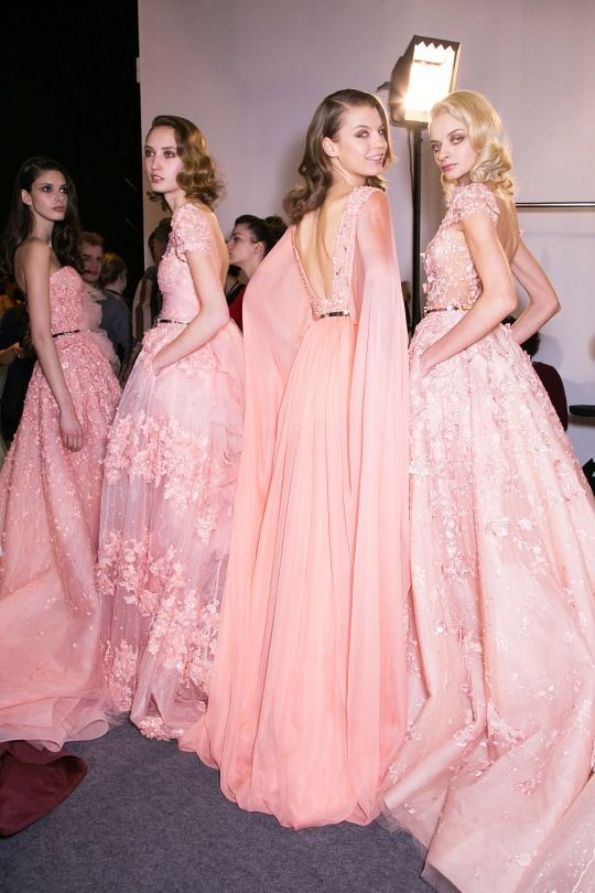 Backstage at Zuhair Murad Couture Spring 2015