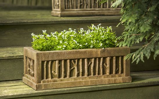Birches cast stone Small Window Box made by Campania International