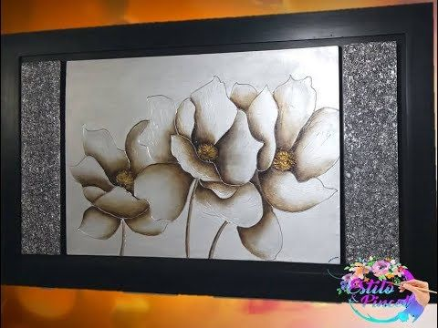 Cuadro Ganador Flores Con Texturas English Subtitles Elyosoy Youtube Arte Abstracto Sobre Lienzo Pinturas Con Texturas Cuadros De Arte