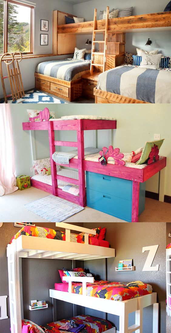 20 Stylish Space Saving Triple Bunk Beds Triple Bunk Beds Bunk