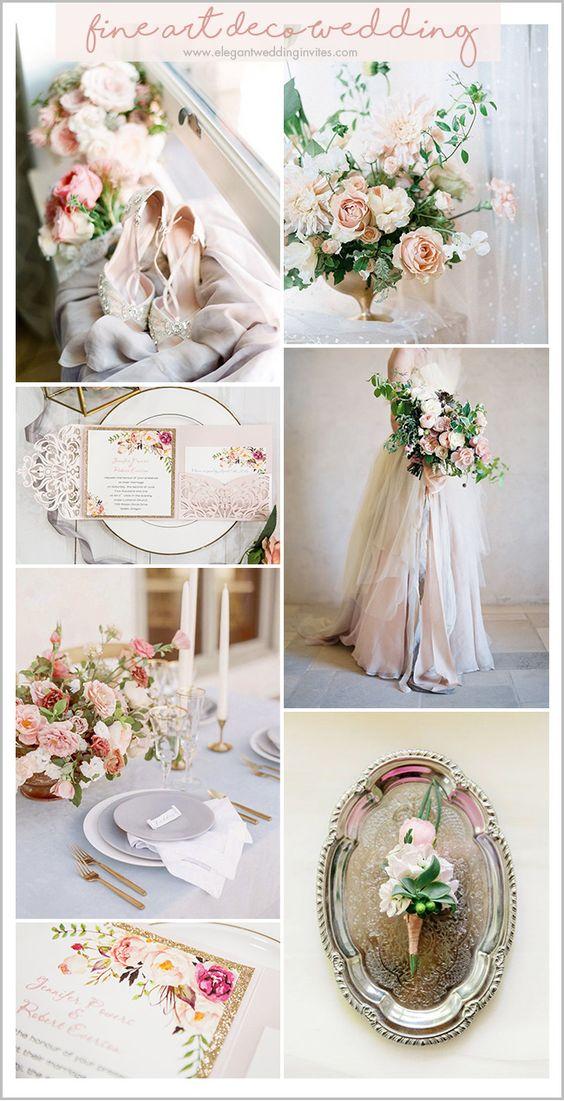 idei inspiratie nunta mood board elegant accente culoare