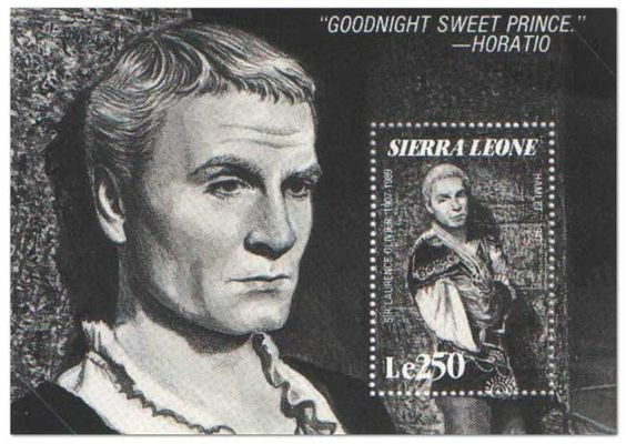 This stamp from the Trucial State of Fujeira in 1969 shows the moment Hamlet finally kills his uncle in Act V Sc ii:. Description from philatelicdatabase.com. I searched for this on bing.com/images
