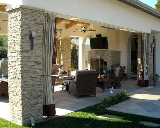 Drapery On CabananPatio Stucco And Stone Cabana Design, Pictures, Remodel,  Decor And Ideas   Page 4 | Cabanas | Pinterest | Covered Patio Design,  Patios And ...