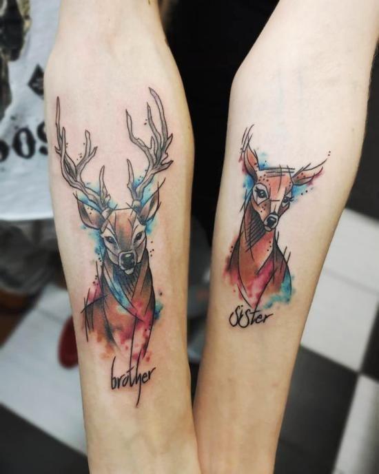170 Kreative Geschwister Tattoo Ideen Und Inspirationen Brother Tattoos Sister Tattoos Tattoos For Daughters