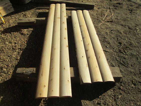 White Cedar Log Siding And Logs On Pinterest