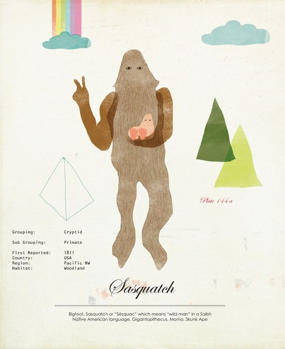 Limited Edition Sasquatch Species Print by ShopAmySullivan on Etsy, $20.00
