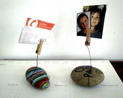 portafoto: Gift Ideas, Kidscraft Metalwire, Kids Crafts, Crafts Kids, Fathers Day Ideas, Paperweight Kids, Craft Ideas