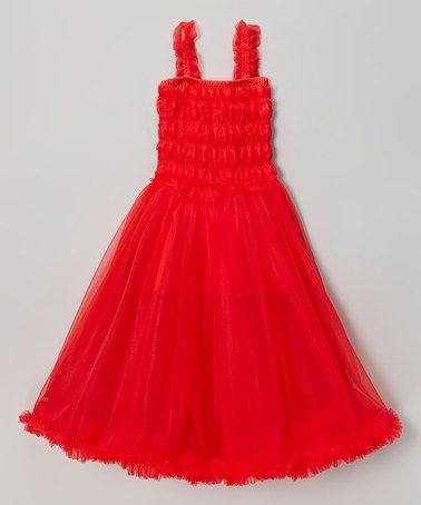 Look what I found on #zulily! Red Ruffle Chiffon Dress - Infant, Toddler & Girls by Royal Gem #zulilyfinds