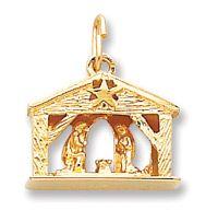 14K Gold 3-D Nativity Christmas Charm, $398.00