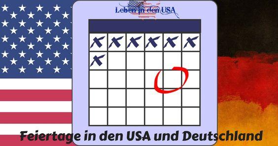 Finde hier einen Kalender zum ausdrucken mit Feiertagen aus den USA, Deutschland, Schweiz und Österreich + Informationen und Artikel zu Feiertagen in den USA und Deutschland.