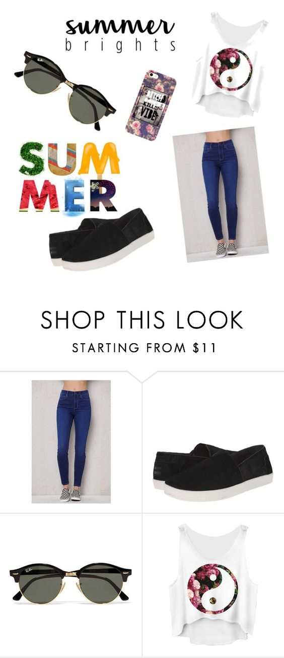 """""""Summers..."""" by mariapaulamunozatencio ❤ liked on Polyvore featuring PacSun, TOMS and Ray-Ban"""