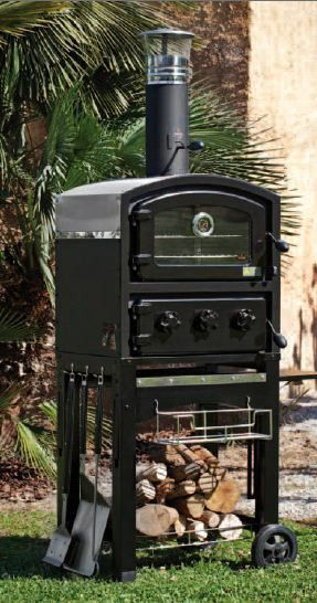 fornetto wood fired pizza oven smoker ovens wood. Black Bedroom Furniture Sets. Home Design Ideas