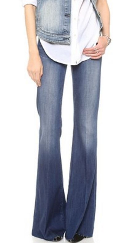 Dark Wash Wide-Leg Jeans
