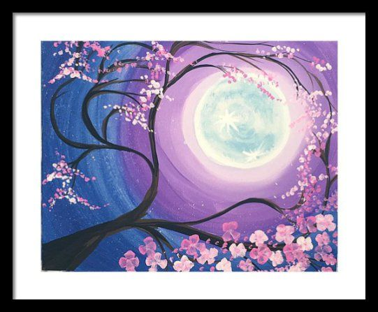 Cherry Blossom Tree Painting Step By Step Painting For Beginners Spring Painting Canvas Painting Tutorials Cherry Blossom Painting