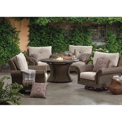 Member S Mark Mystic Ridge 5 Piece Gas Firepit Chat Set Sam S