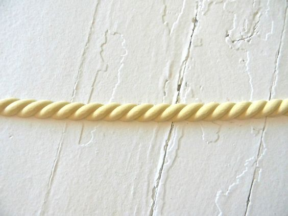 MOLDING SMALL ROPE * WOOD & RESIN * 8 FEET * FLEXIBLE * STAINABLE #diyc