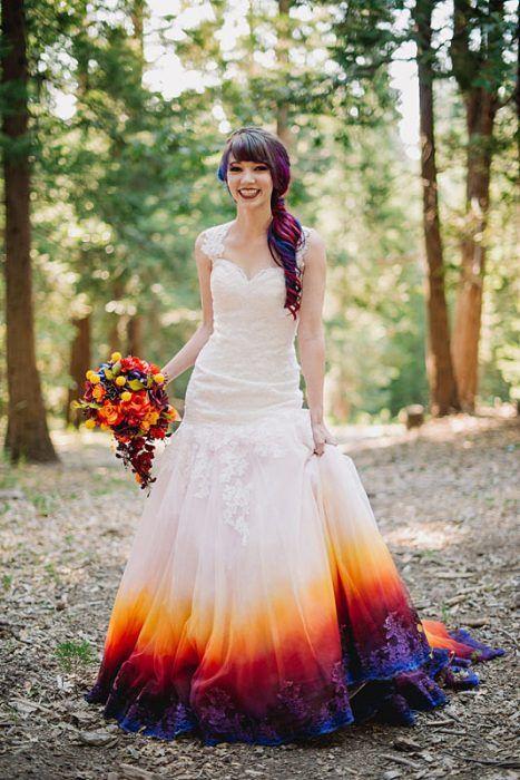 La novia sonriente.