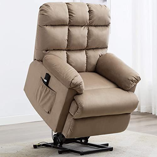 New Anj Power Lift Recliner Chair Elderly Side Pocket Heavy Duty Safety Motion Lift Chair Reclining Mechanism Antiskid Fabric Living Room Chair Overstuffe In 2020 Lift Recliners Recliner Chair Living Room Chairs