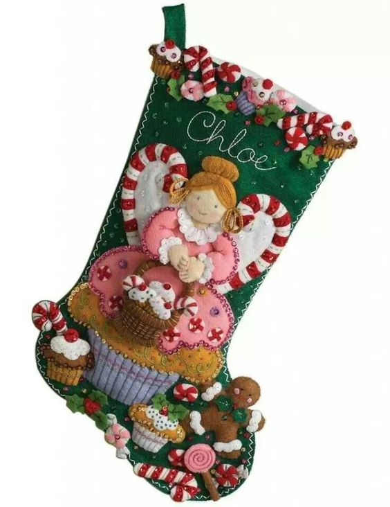 Cute Christmas Stocking Calze Befana Pinterest