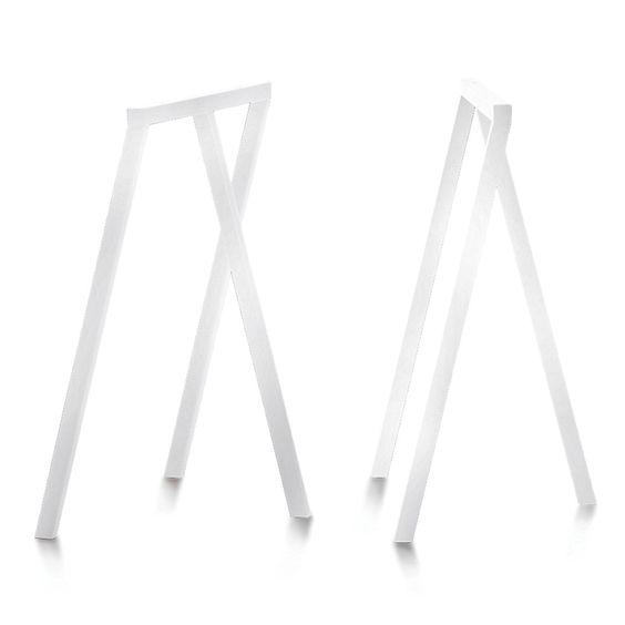 Hay Tischböcke satz tischböcke aus lackiertem vierkantrohr mit drei auflagepunkten