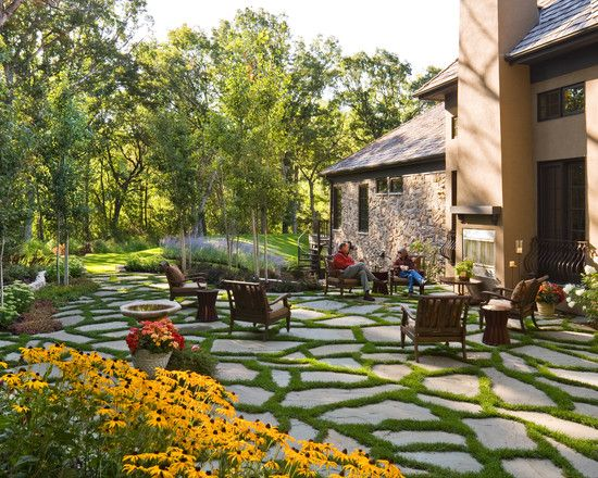Grass Driveway Design, Pictures, Remodel, Decor and Ideas - page 12: Contemporary Landscape, Backyard Ideas, Landscaping Ideas, Outdoor Living, Landscape Design, Front Yard, Patio Paver