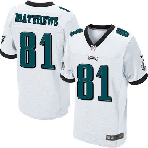 Cheap NFL Jerseys Online - NFL Philadelphia Eagles Nike Men Elite Jordan Matthews 81 White ...