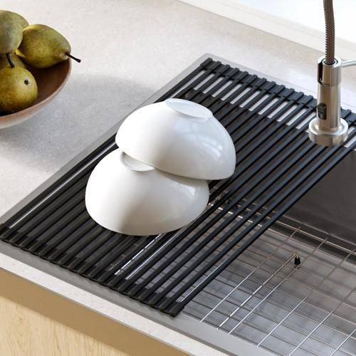 Kraus Kraus Multipurpose Over Sink Roll Up Dish Drying Rack In