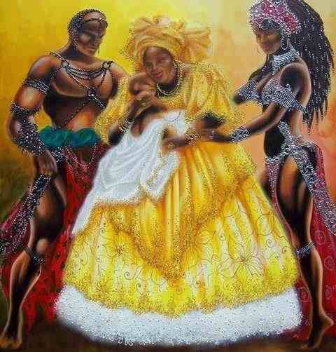 divinemoon:  Oshun holding a child with Chango and Oya  Founded...