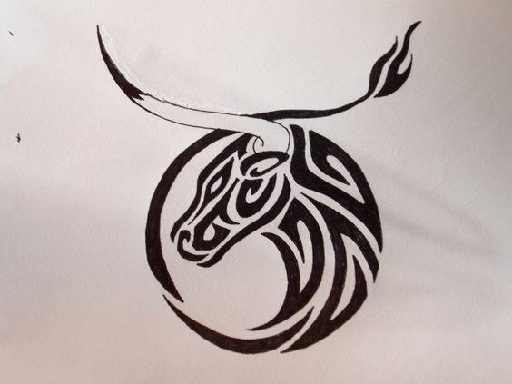 Tatouage de taureau et symbolique du signe astrologique du taureau tatouages symboles design - Symbolique des tatouages ...