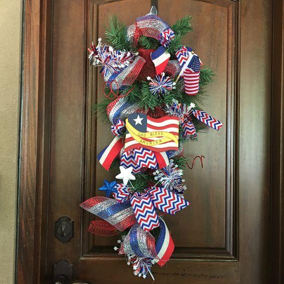 memorial day burlap wreath
