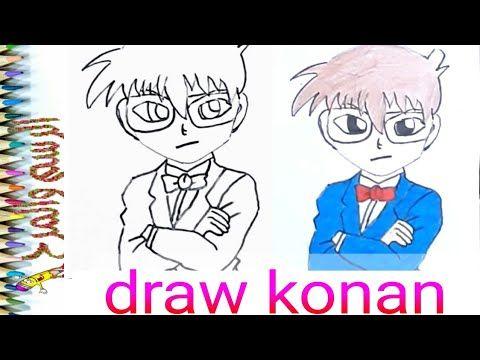 رسم المحقق كونان مع اغنية كونان الرائعةdraw Detective Konan Youtube Konan Fictional Characters Vault Boy