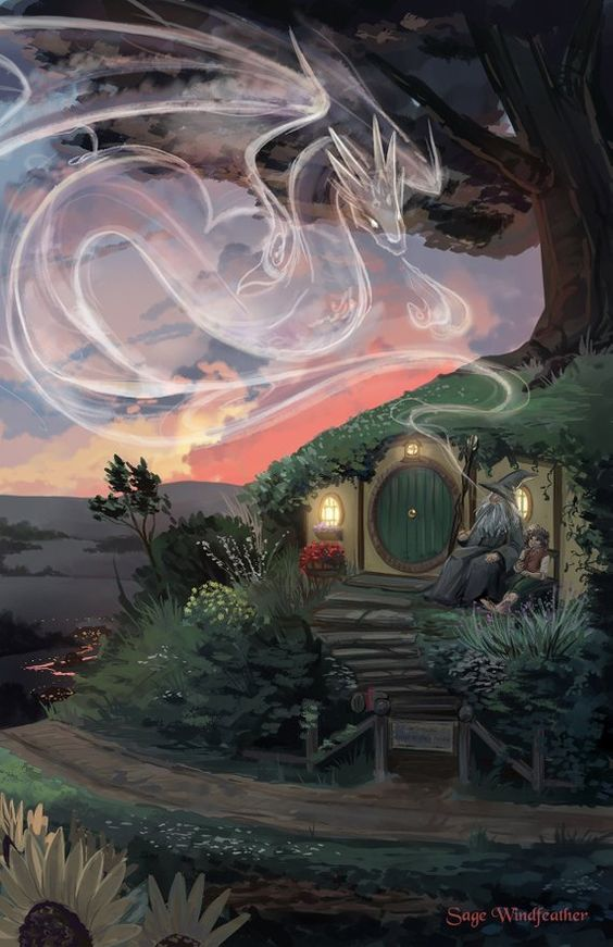 The Hobbit Bag End Print