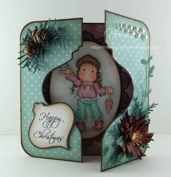 From My Craft Room: A Christmas Gate-Fold with Window Card. This gives me ideas for all kinds of windowed gate fold cards!