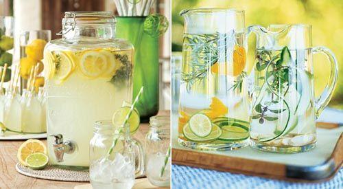 Como preparar água saborizada