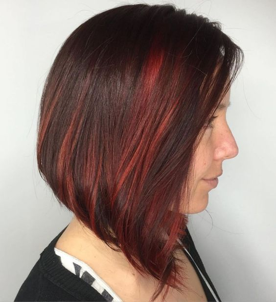 short red hair with highlights