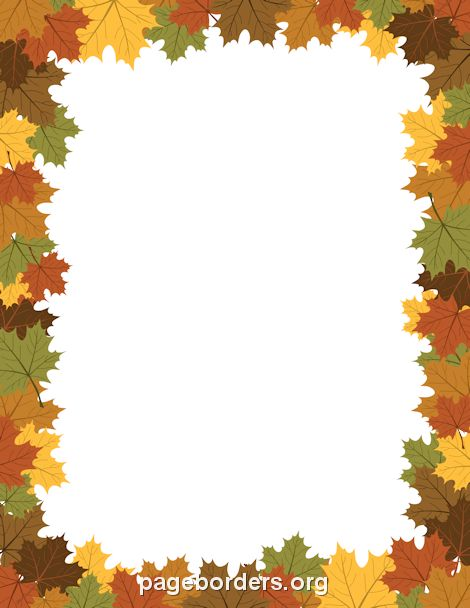 Maple Leaf Border General pictures Pinterest Maple leaves - certificate borders templates