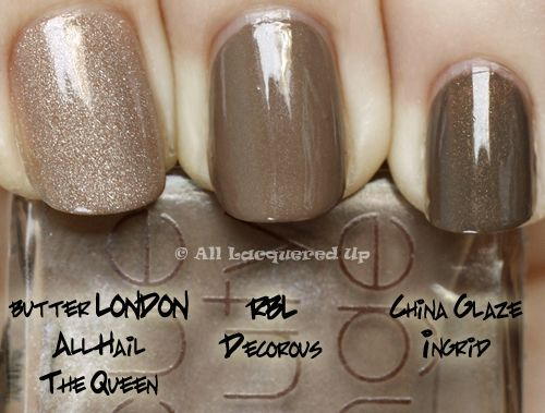 this site rocks! comparisons of similarly colored nail polishes so you can see how they truly match up. all lacquered up.