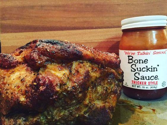 Dinner! #bonesuckinsauce #bostonbutt #bbq #glutenfree #paleo #nomgmo #meat #tailgate #biggame #football #foodporn