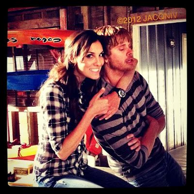 Photo of Eric Christian Olsen & his friend actress  Daniela Ruah - Casting NCIS Los Angeles