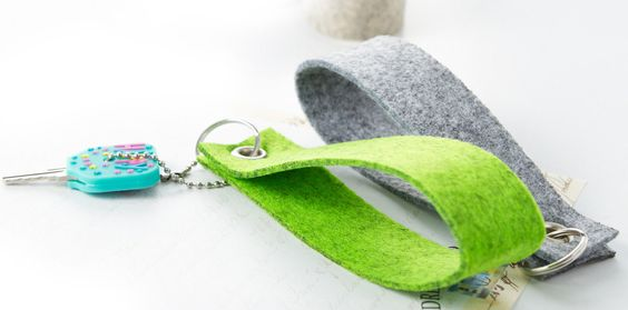 Filz Schlüsselanhänger Schlüsselband 21 Farben Rohling Filzanhänger   eBay