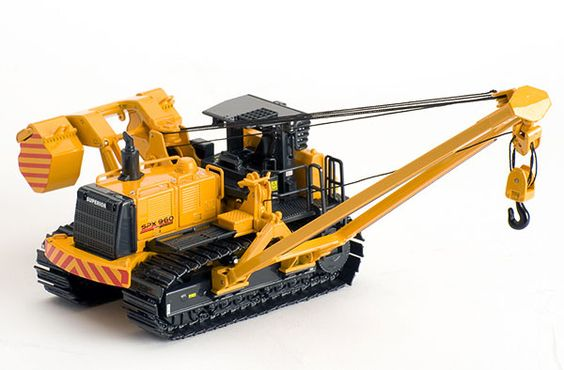 Toy Construction Equipment : Ros scaip superior spx pipelayer diecast construction