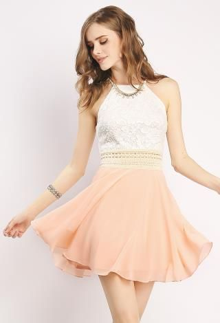 Lace Overlay Flare Dress | Shop Easter Dresses at Papaya Clothing