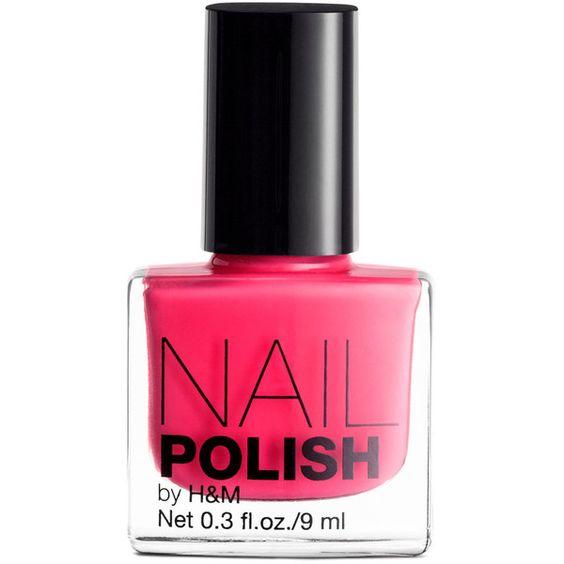 H&M Nail polish ($1.41) ❤ liked on Polyvore featuring beauty products, nail care, nail polish, makeup, nails, h&m, beauty and h&m nail polish