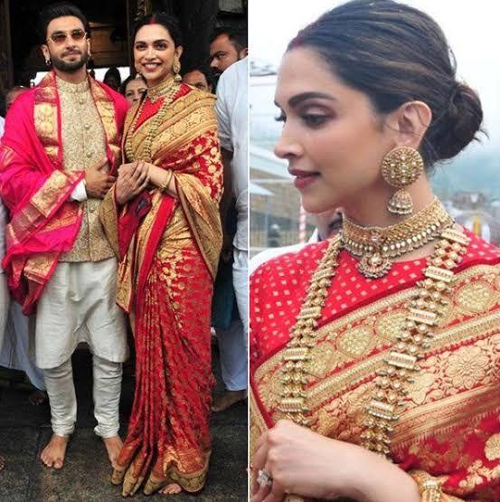 Deepika Padukone Saree Deepika Padukone In Saree Deepika Padukone On Saree Deepika Padu Indian Bridal Outfits Traditional Indian Dress Wedding Saree Collection