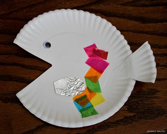 Paper plate fish craft for kids toddlers fish and for Fish crafts for preschoolers