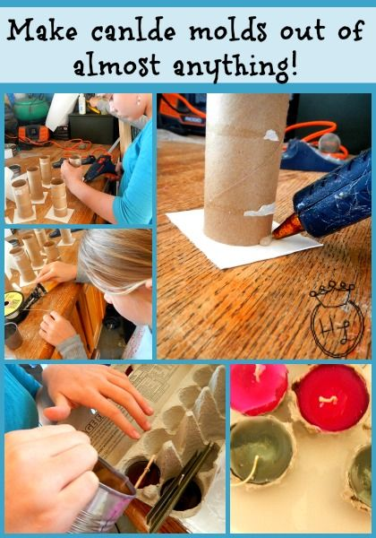 Candle Making Supplies Make Your Own Molds Out of Almost Anything l Homestead Lady (.com)