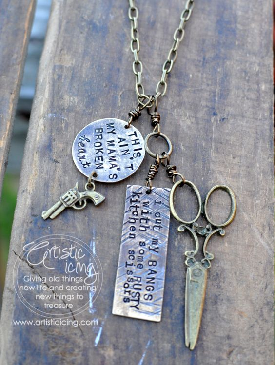 Mamas Broken Heart - Artistic Icing...I NEED this necklace