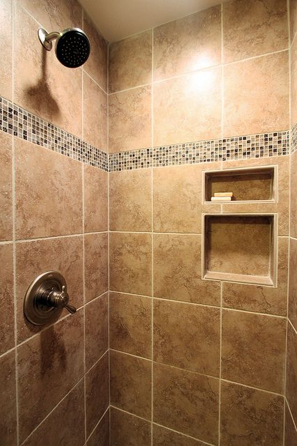 Ceramic Tile Shower After By John M Ransone Builder Via Flickr Interior Design Bathrooms