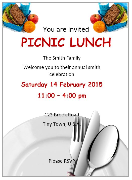 Lunch Invitation Flyer Template Free Flyer Designs – Lunch Invitation Templates