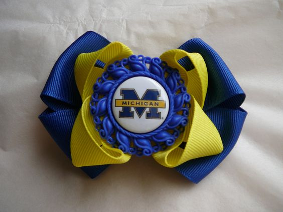 UofM Bow available at www.facebook.com/AnnetteLynBoutique